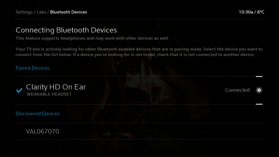 Connected Bluetooth Device