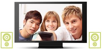 Stereo Sound on TV - two speakers