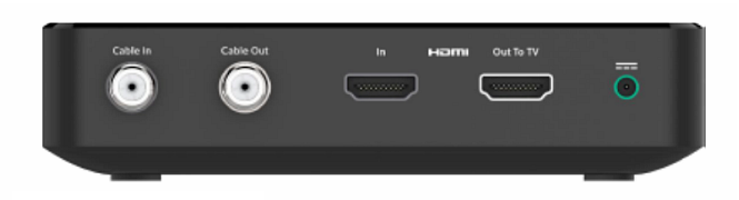 BlueCurve TV Player (XiD) rear view