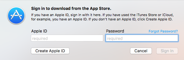 App Store Sign-in