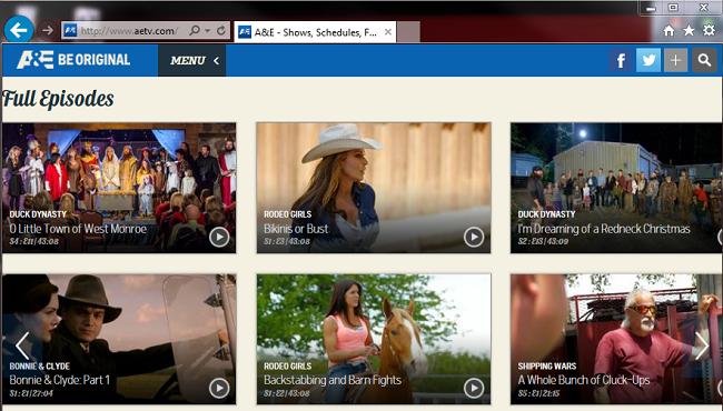 A&E watch episodes online