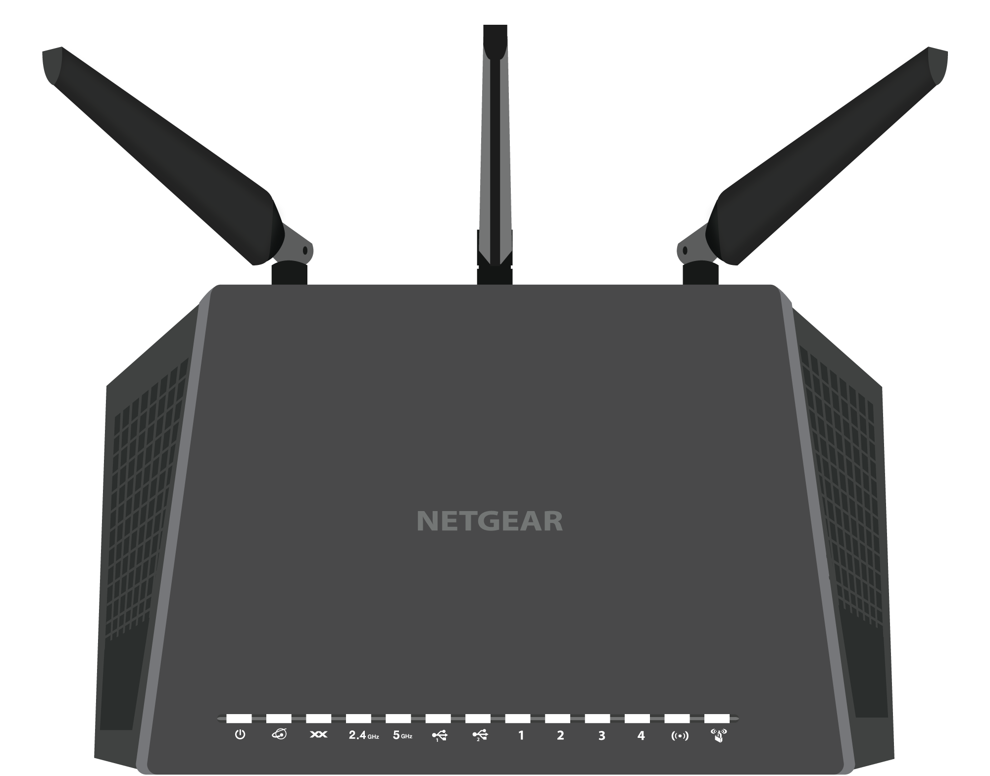 Netgear R6400 Router Top Down