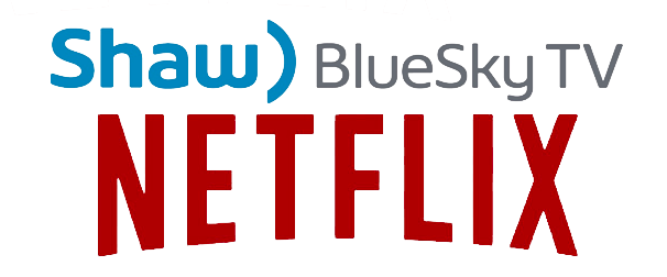 Netflix on BlueCurve TV logo