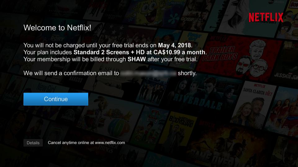 Welcome to Netflix