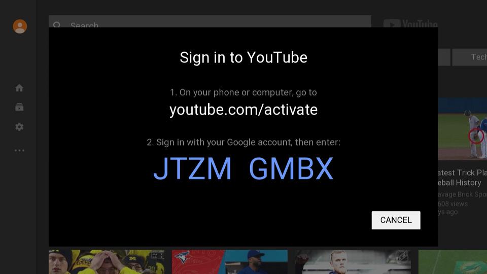 YouTube Access Code