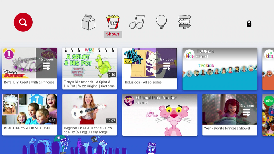 YouTube Kids Shows Category