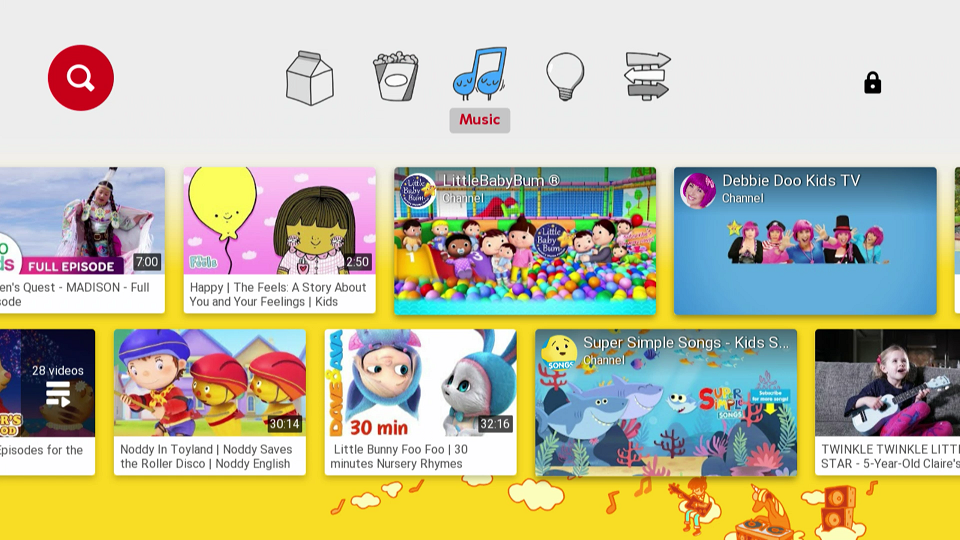 YouTube Kids Music Category