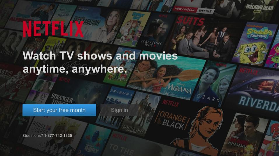 Netflix on BlueSky TV