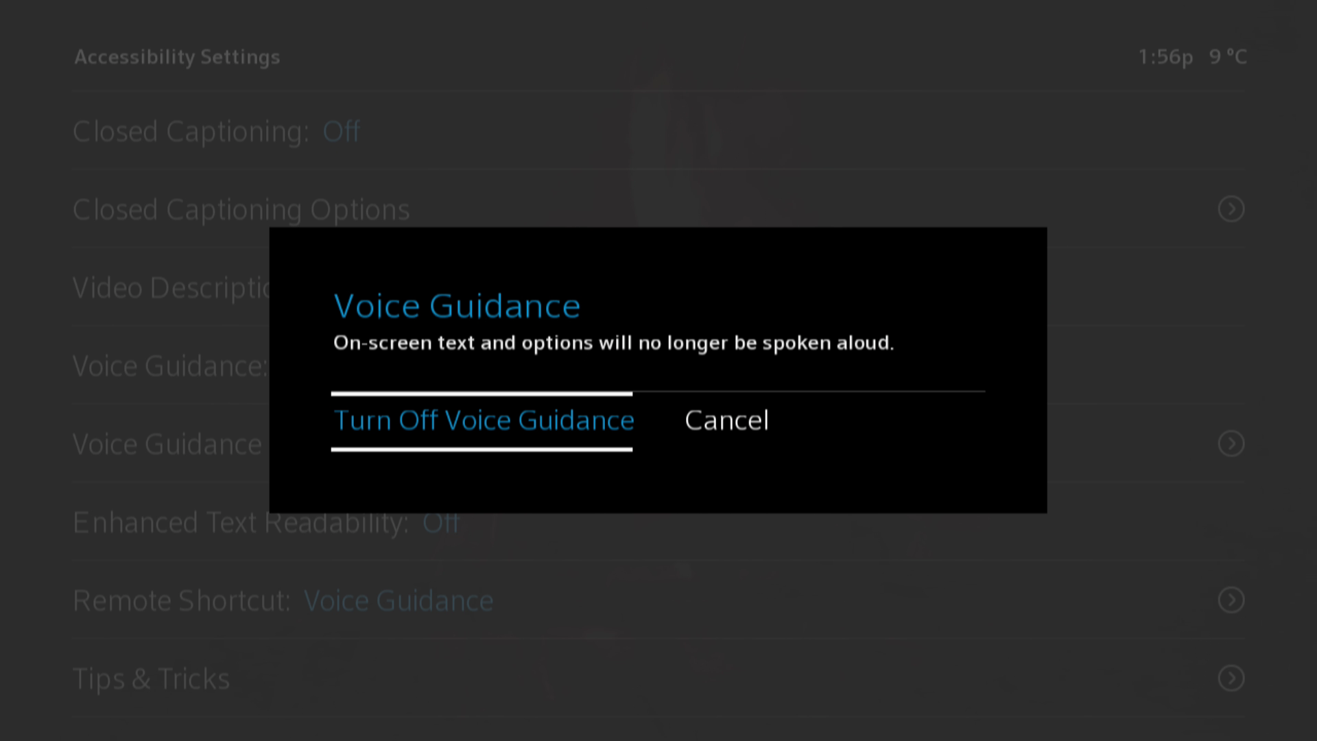 Disable Voice Guidance