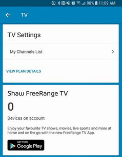 How to view my Shaw channel listings