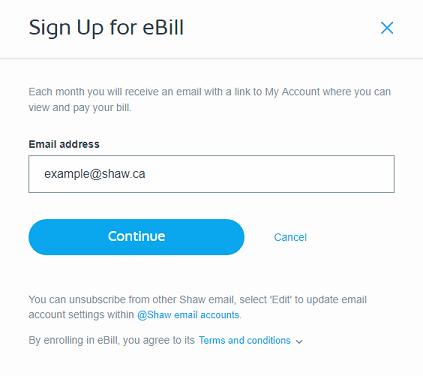 Sign Up for eBill