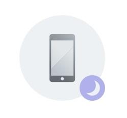 BlueCurve Device Status: Bedtime Mode Icon
