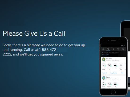BlueCurve Home Error Message: Please Give Us A Call