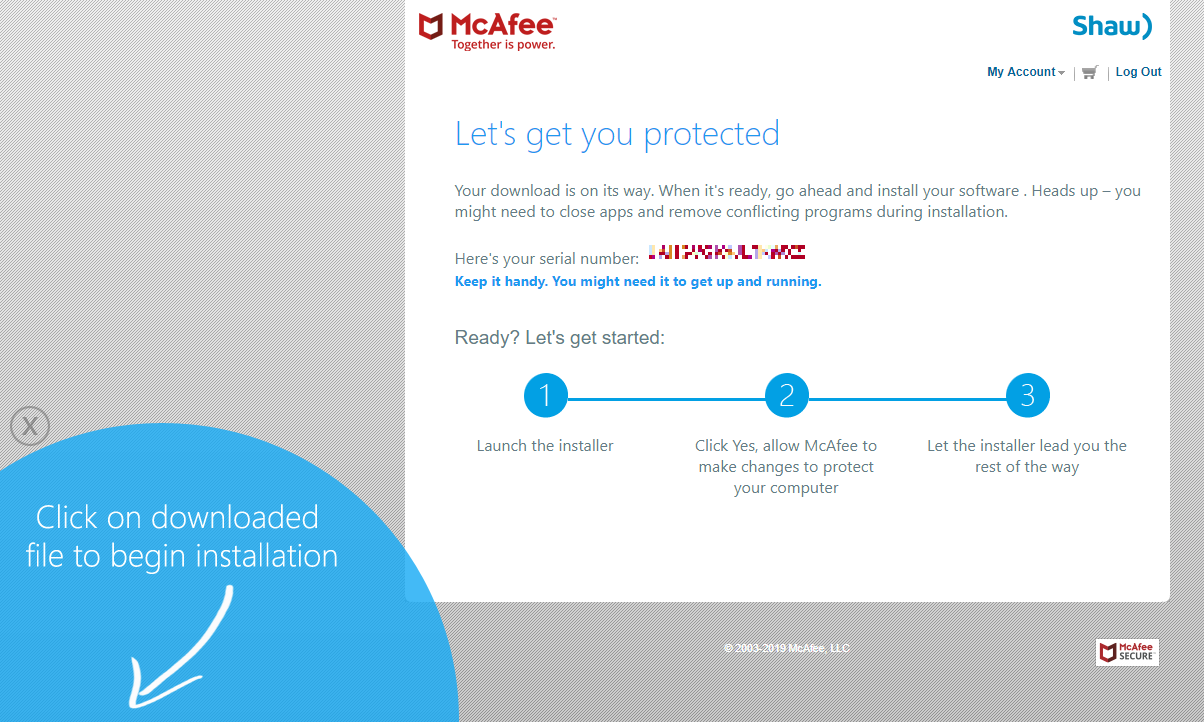 How to install McAfee Internet Security software