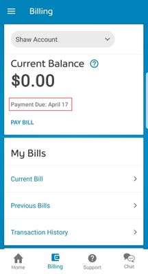 My Shaw App Payment due.jpg