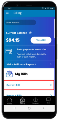 My Shaw App Current Bill View.png