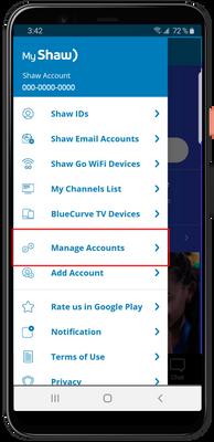 My Shaw App Menu Manage Accounts.png