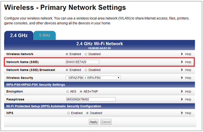 Change WiFi name on Arris modem