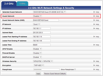 Set up guest networks on Arris modem