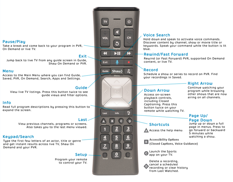 BlueCurve TV Remote Control
