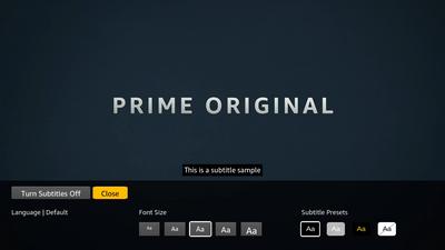 Turn on subtitles in Prime Video