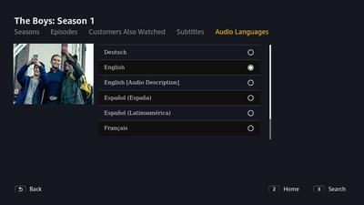 Change audio languages in Prime Video